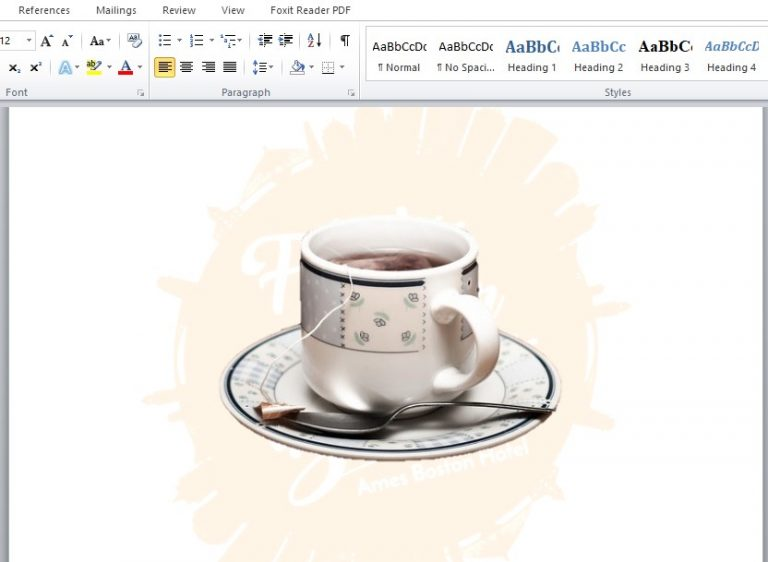 Cara menghapus dan menghilangkan background di word