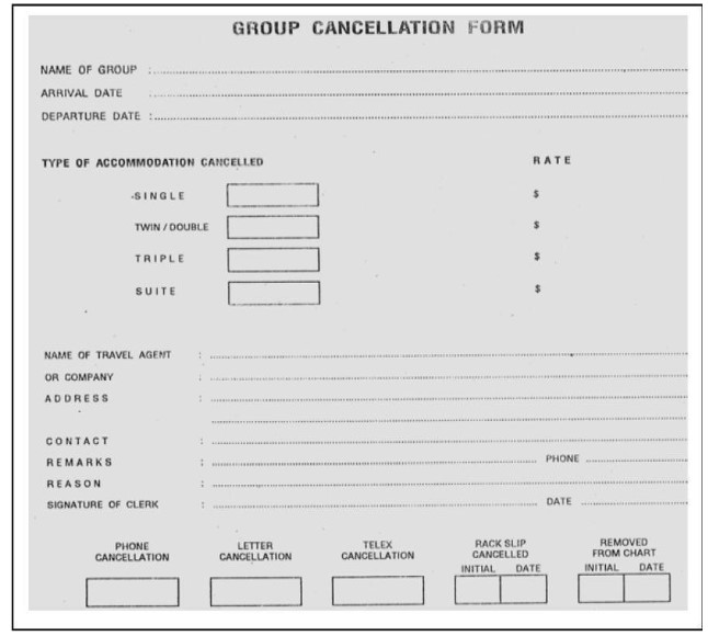Contoh Group Cancellation Form